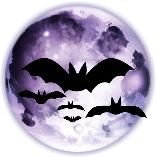 Horror vector background. Bats moon png free