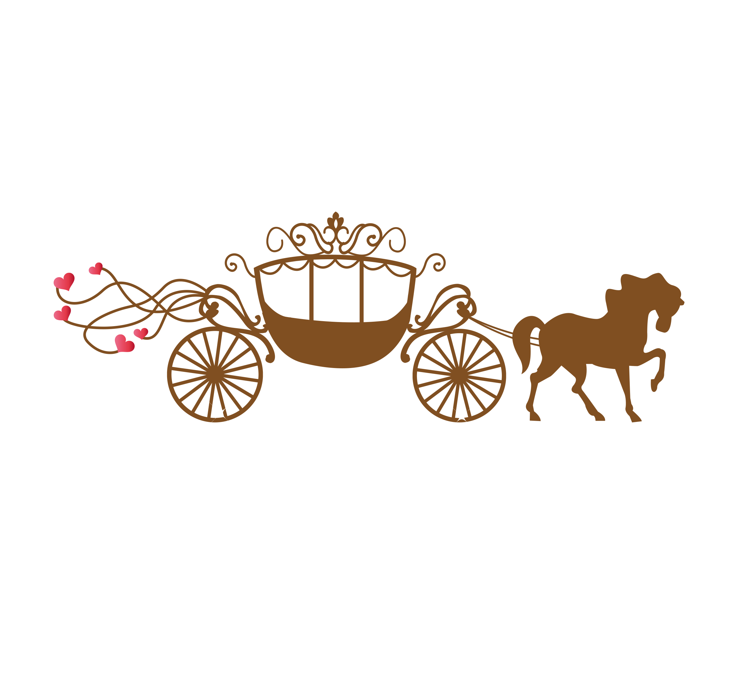 Horse and carriage png. Wedding invitation greeting card