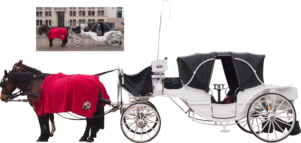 Horse and carriage png. White by nexu on