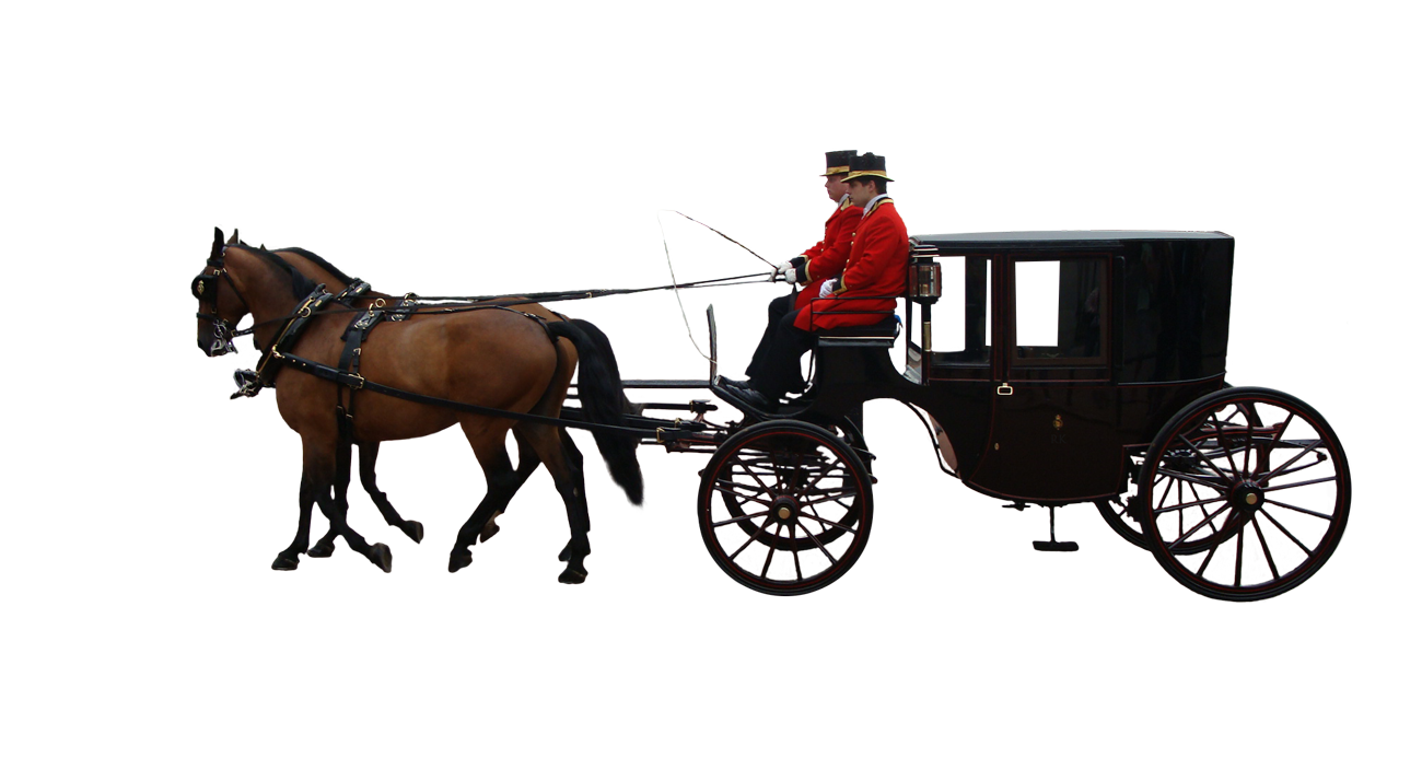 Horse and carriage png. Cutout for photoshop battle