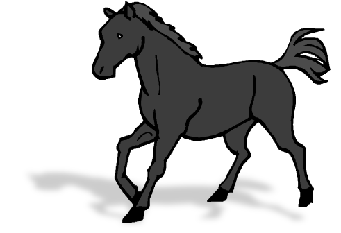 Horse clip. File png wikimedia commons