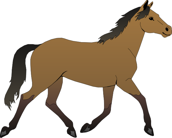 Vector horses shape