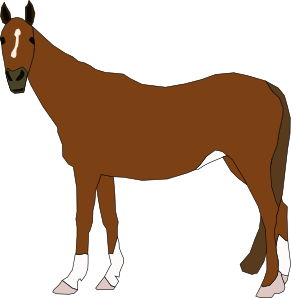 Vector horses red. Horse clip art at