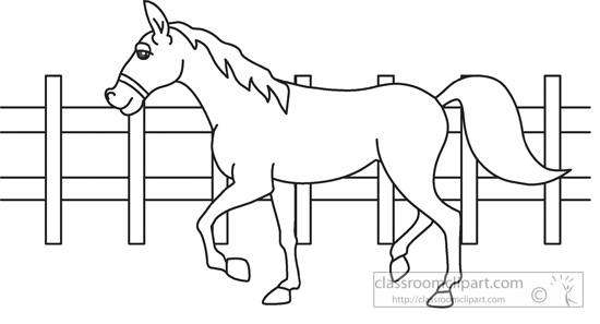Farm clipart outline. Animals animal horse black