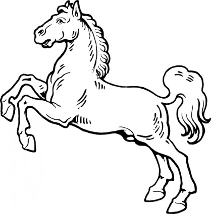 Horse clip art black and white. Clipart panda free images