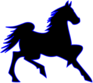Horse clip art clear background. Blue at clker com