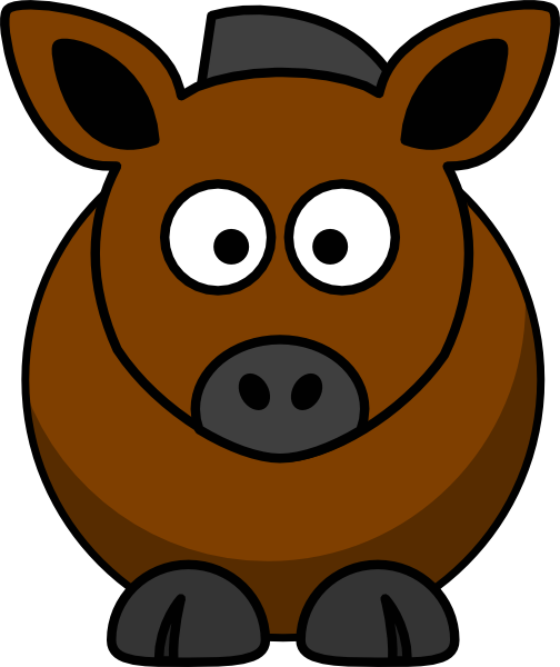 Horse clip art cute. Free to use public