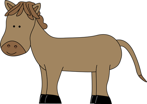 Horse clip art cute. Image brown with light