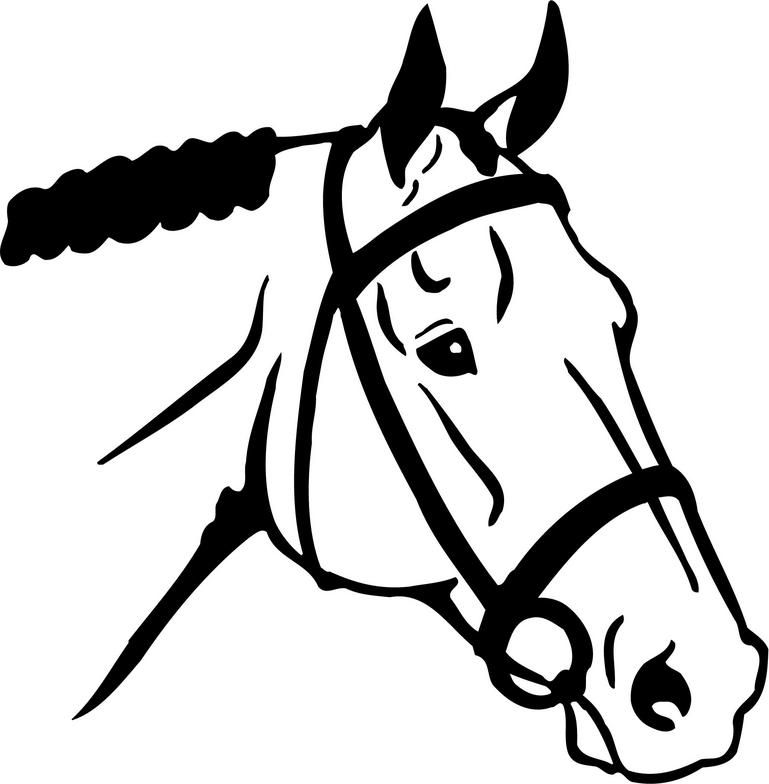 A simple but nice. Horse clip art easy banner royalty free stock