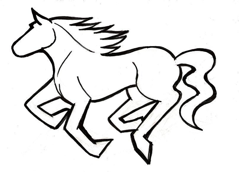 Horse clip art easy. Drawing at getdrawings com