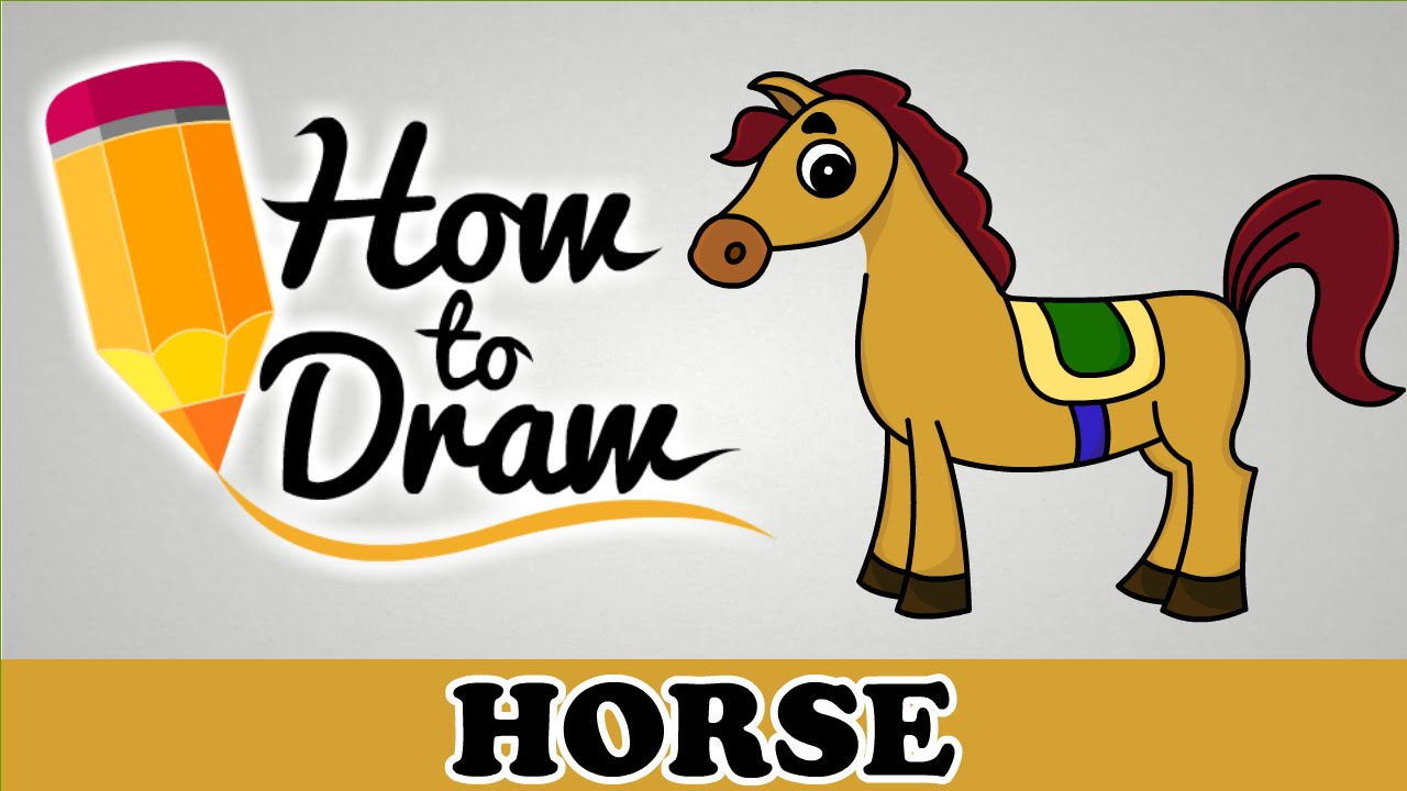 How to draw a. Horse clip art easy clip library library