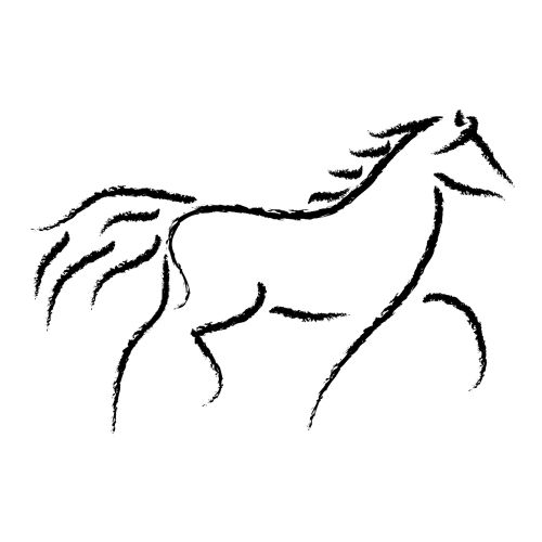 Horse clip art easy. Drawing free download best