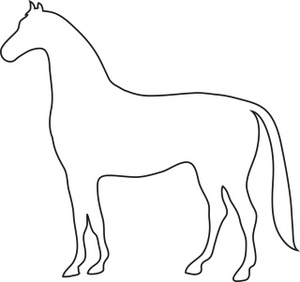 Free image outline drawing. Horse clip art easy clipart freeuse library