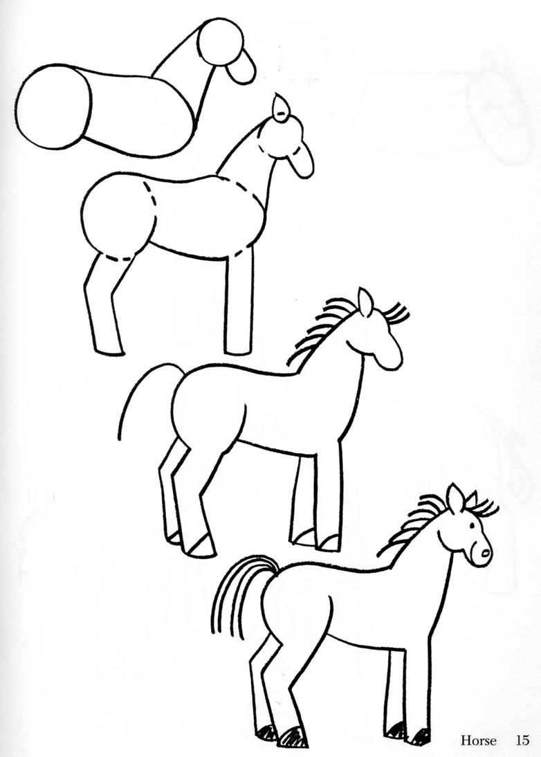 Horse clip art easy. Free arts how to
