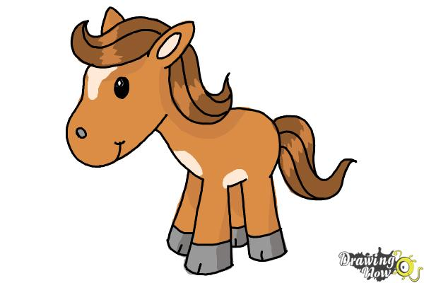 Horse clip art easy. How to draw a
