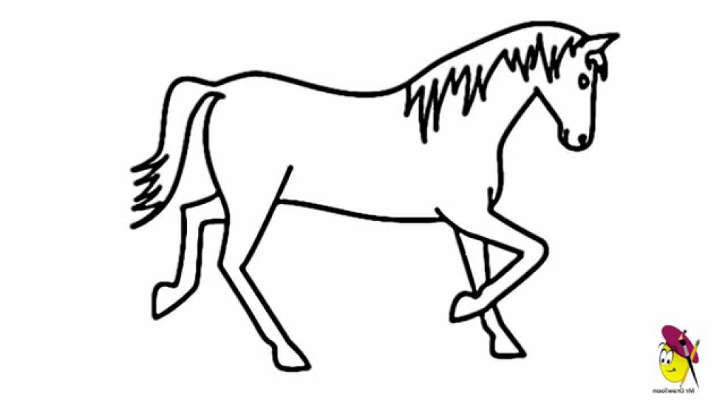 Horses for drawing at. Horse clip art easy graphic freeuse download