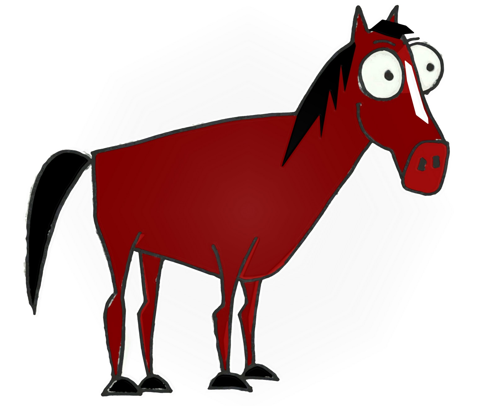 Cartoon drawing at getdrawings. Horse clip art easy clip freeuse download