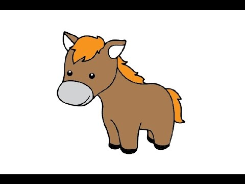 How to draw a. Horse clip art easy graphic royalty free
