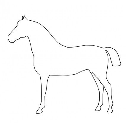 Horse clip art easy. Free vector simple file