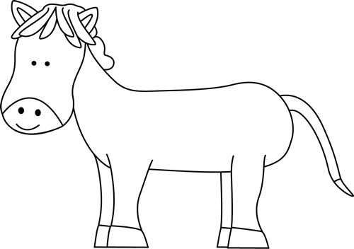Horse clip art pretty horse. Clipart black and white