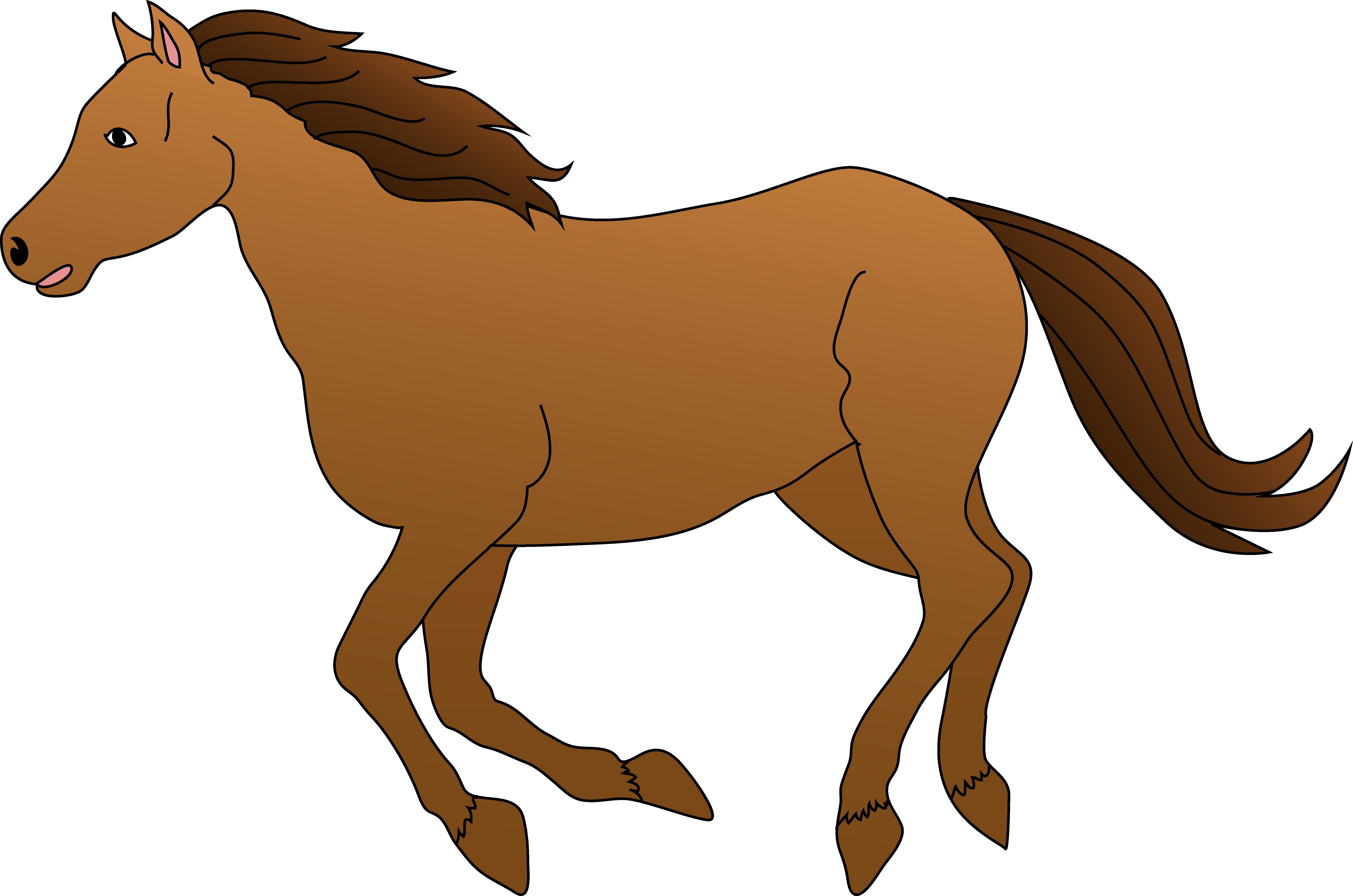 Brown galloping clipart free. Horse clip art spring vector freeuse download