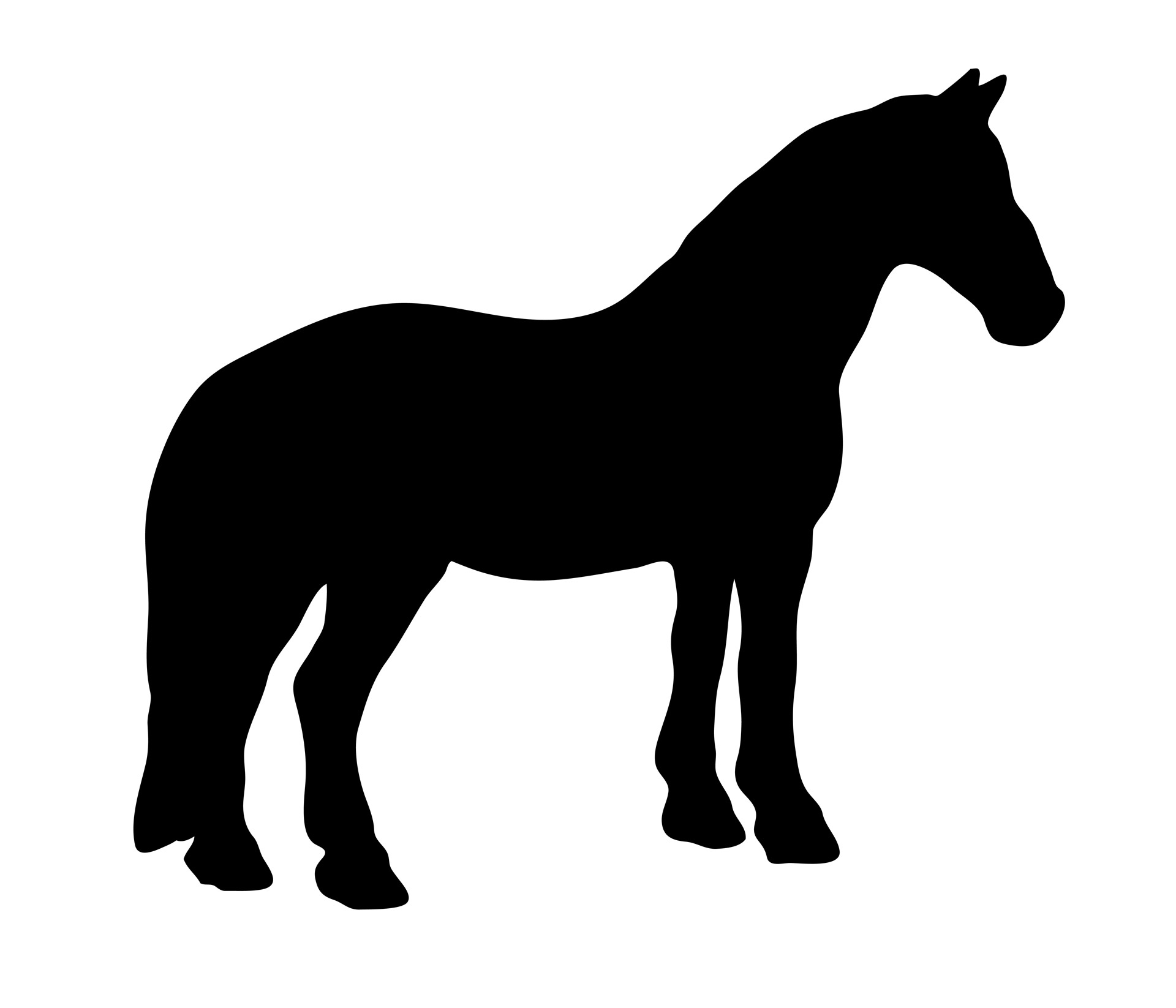 Black silhouette free stock. Horse clip art pretty horse png free stock
