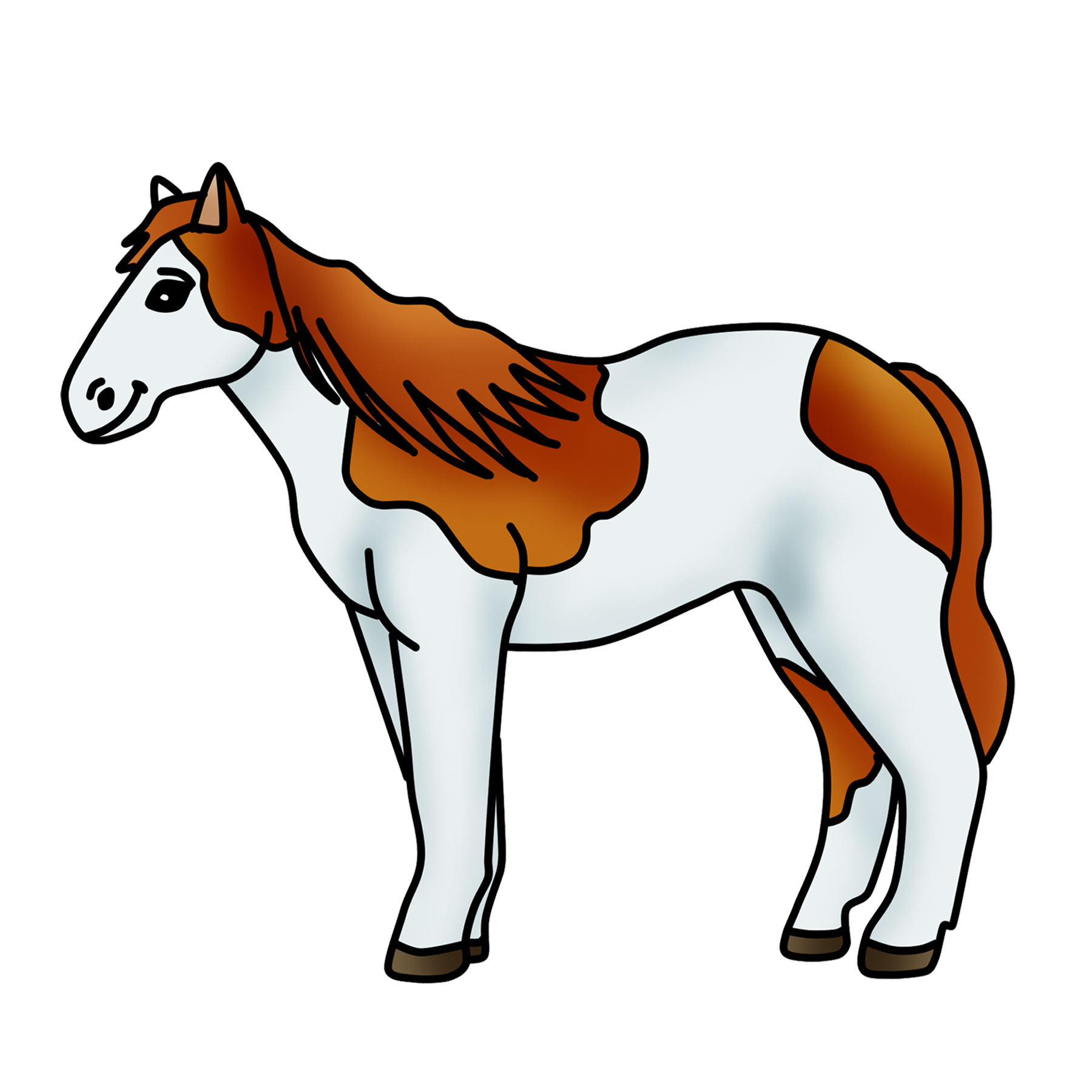 Horse clip art printable. Spotted clipart pony graphic