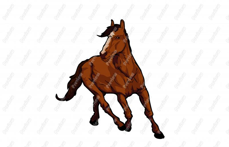 Horse clip art realistic. Character royalty free clipart