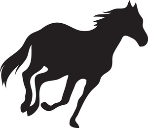 Horse clip art silhouette. Jumping at getdrawings com