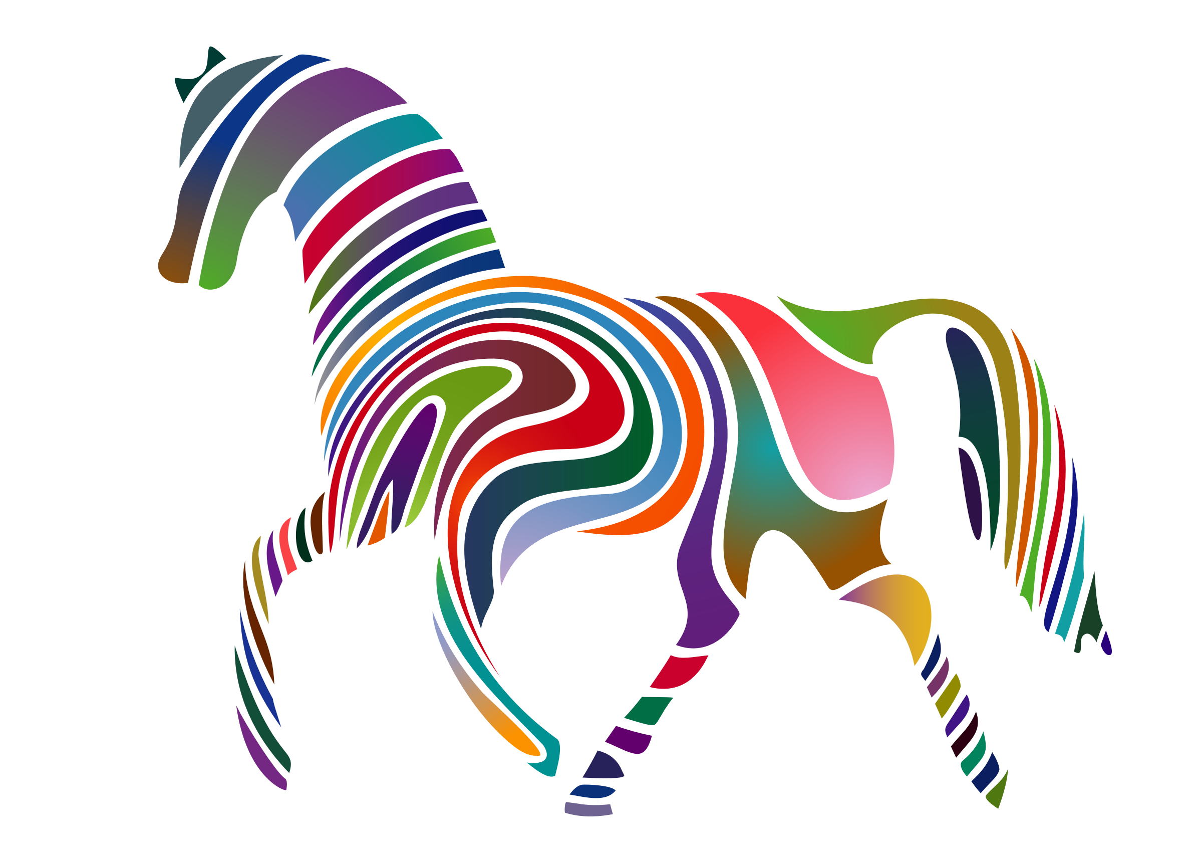 Horse clip art spring. Clipart waved version big
