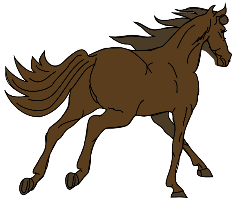 Horse clip art wild horse. Free running images download