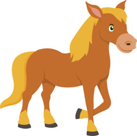 Cute clipart horse. Free clip art pictures