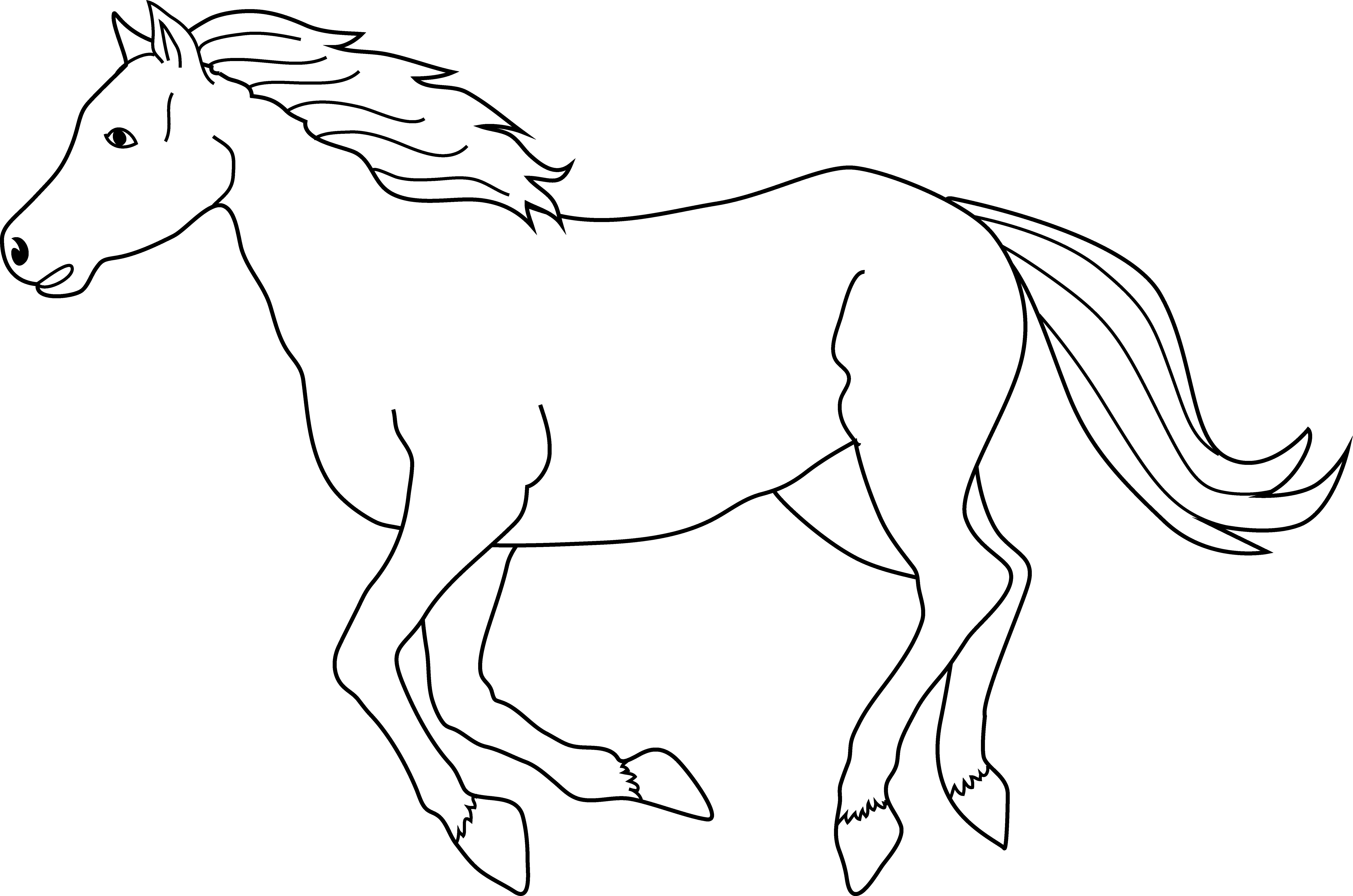 Horse clip fjord. Coloring pages likewise cowboy