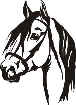 Horse clipart horse head. Silhouette at getdrawings com