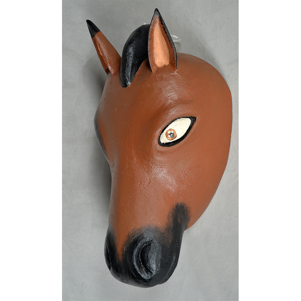 Horse head mask png. Second face title