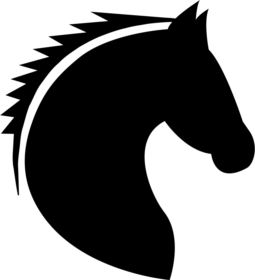 Horse clip head. Svg png icon free