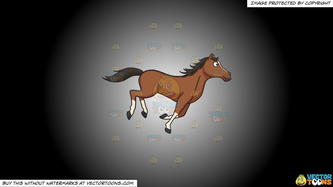 Horse muzzle. Clipart a running wild