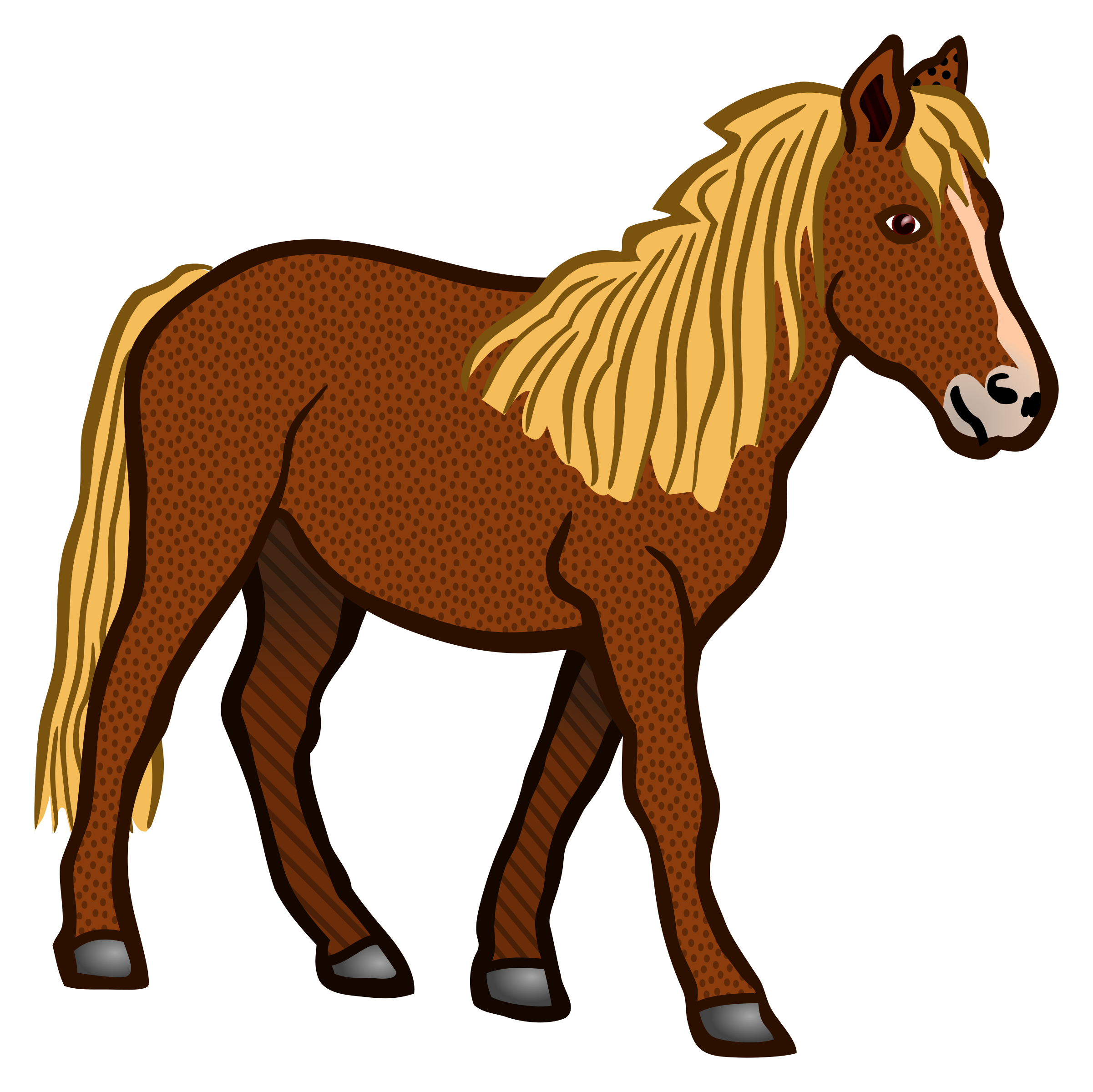 Horse png clipart. Coloured icons free and
