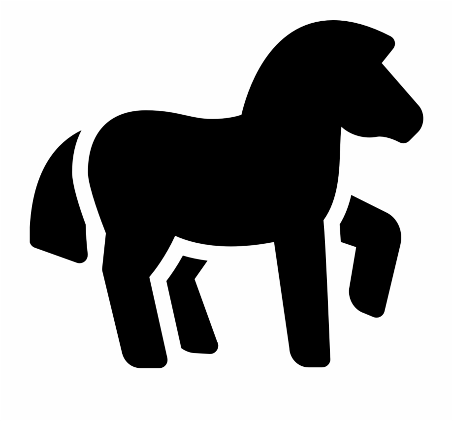 Horse tail. Racing clipart animal pony