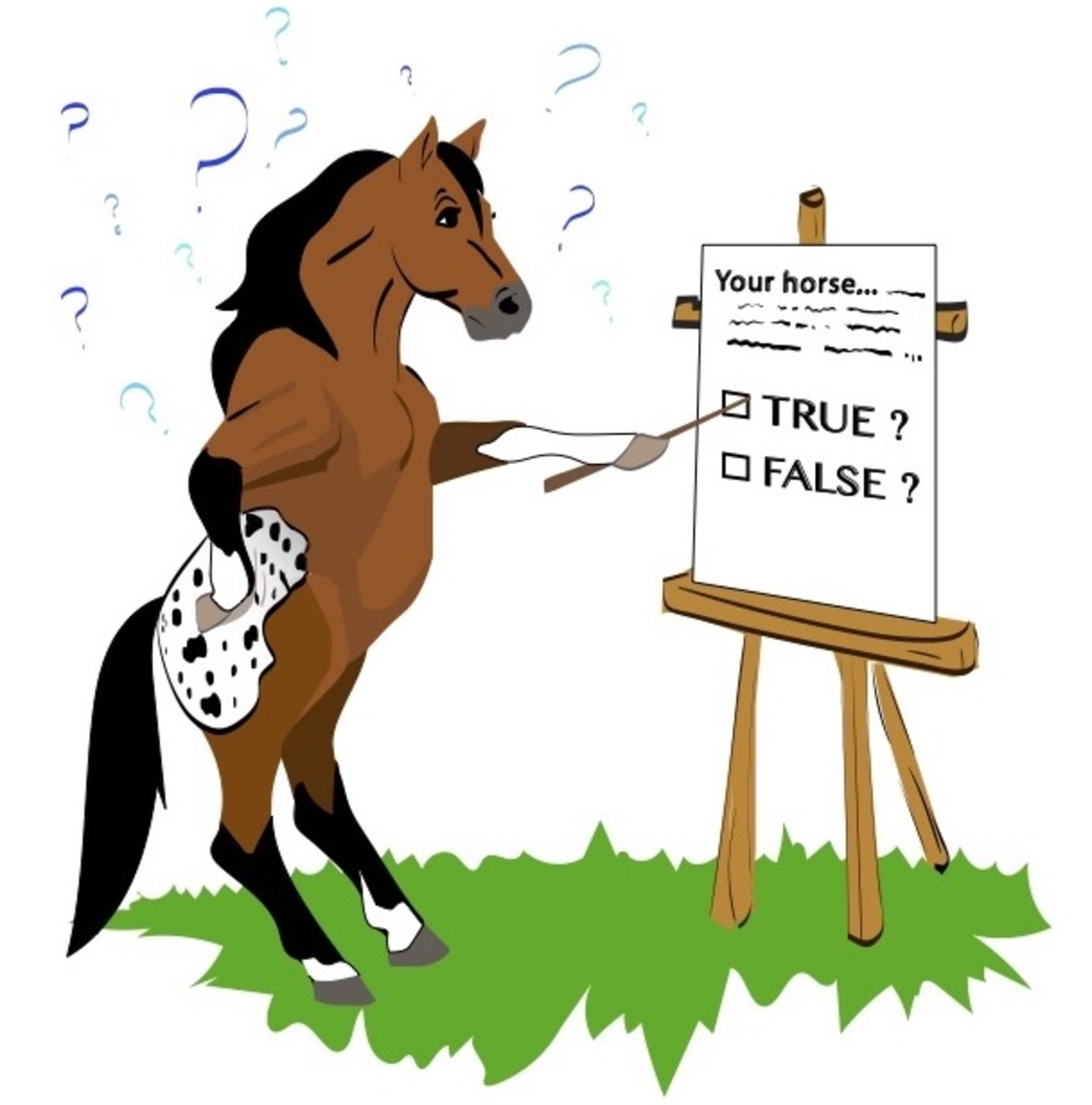 Horse withers. Trivia challenge conformation rider