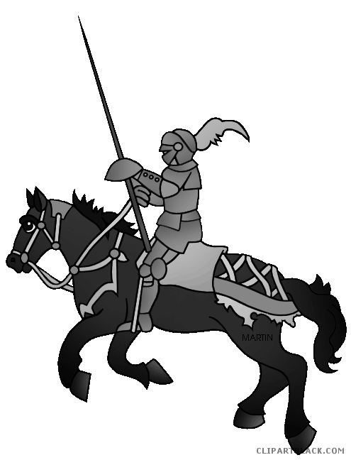 Knights vector horse. Knight on a animal