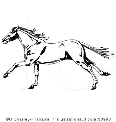 Horses clipart mustang horse. Outline illustrations mustangs rug