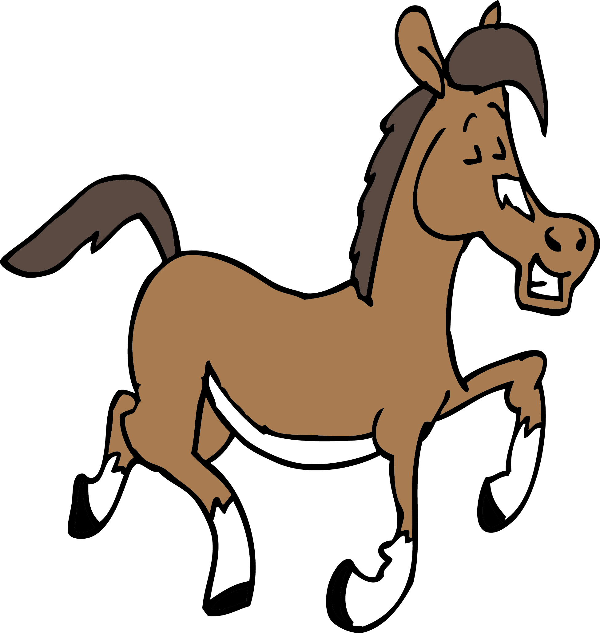 Quarter clipart animated. Horse at getdrawings com