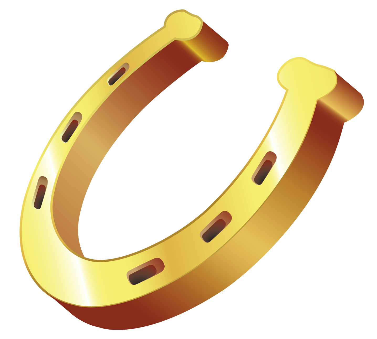 Jewelry clip shoe. Gold horseshoe png clipart