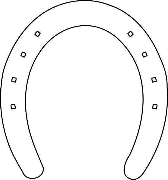 Horseshoe clipart large. Horse shoe outline clip