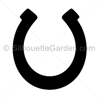 Horseshoe clipart silhouette. Pin by muse printables