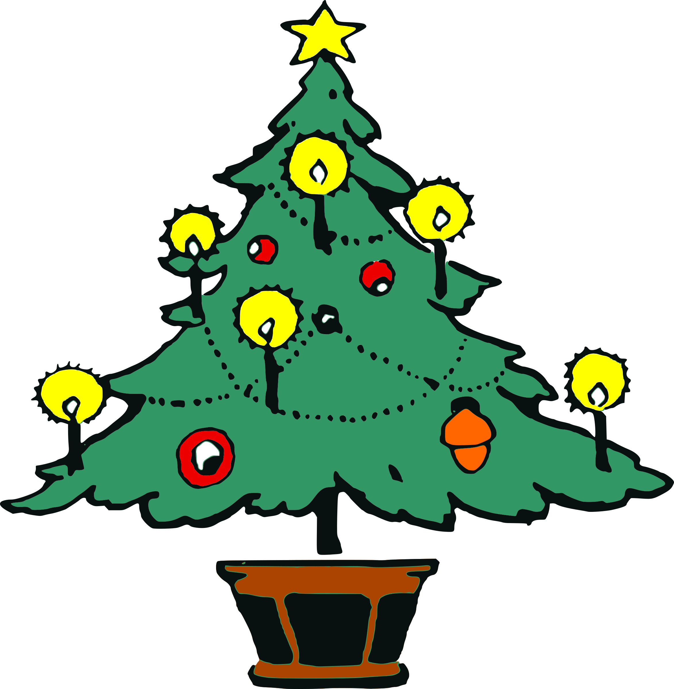 Horseshoe clipart silhouette. Christmas tree images gallery