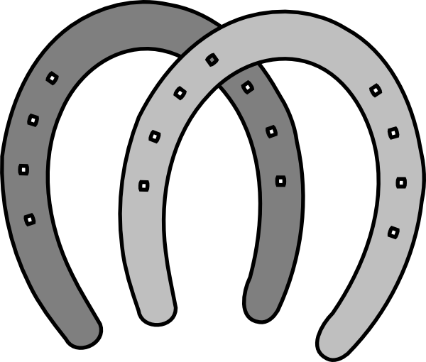 Horseshoe clipart silver horseshoe. Free cliparts download clip