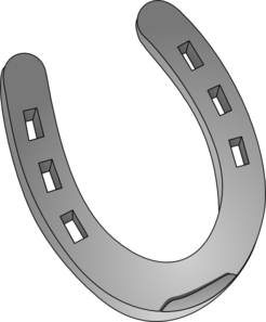 Horseshoe clipart silver horseshoe. Clip art at clker