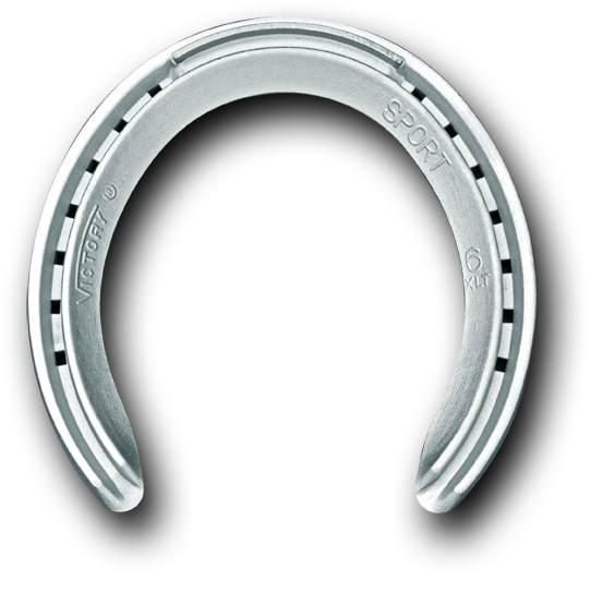 Horseshoe transparent aluminum. Sport xlt fronts farrier